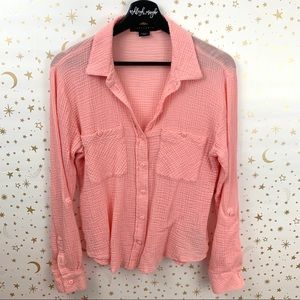 Sanctuary | Boyfriend Shirt Cotton Button Down Top